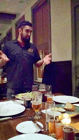 Introduction from the Goose Island brewer of the other 3 beers of the Beer Flight during the Roast Supper for the Raven and Rose and Goose Island Brewers' Dinner Series event on December 7, 2014