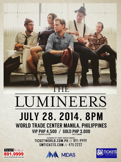 THE LUMINEERS LIVE IN MANILA On July 28 2014
