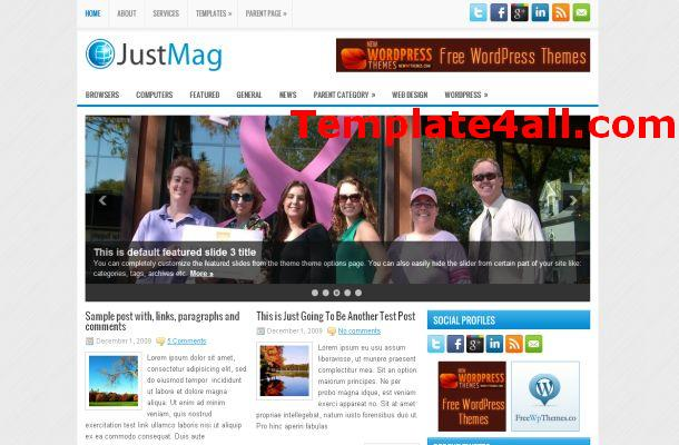 Free Grey Silver News Magazine Wordpress Theme