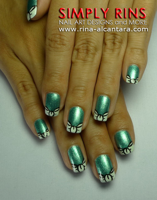 Ribbon Tips Nail Art Design