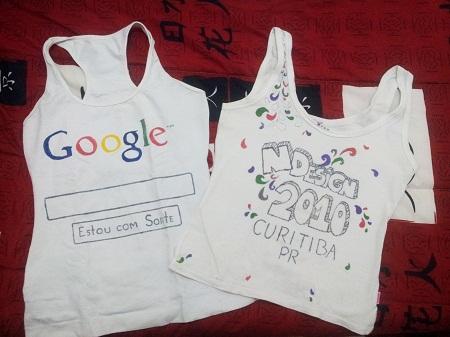 Camisetas customizadas com caneta