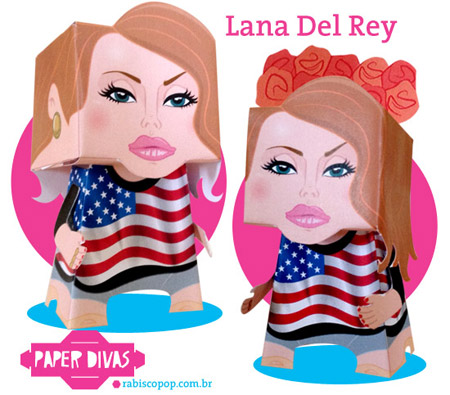 Lana Del Rey Papercraft