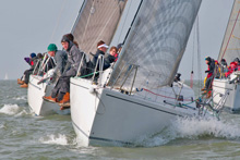J/97 sailing Warsash Spring Series on Solent, England