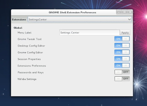 Extension Preferences