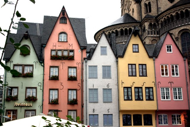 Historic buildings in Cologne's old town in Germany