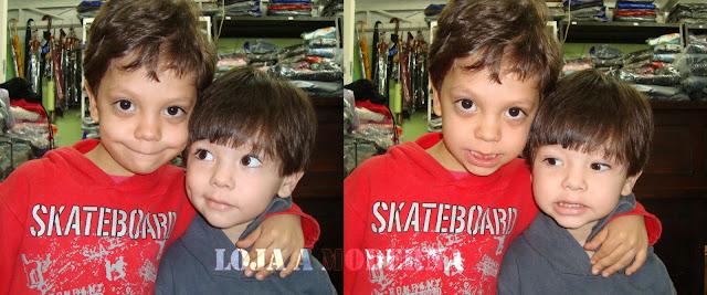 Look das crianças: Renan e seu irmãzinho