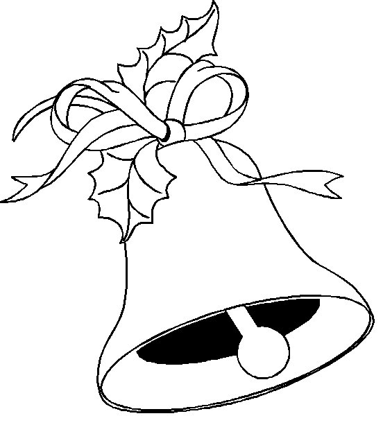 Beautiful Christmas bell coloring pages