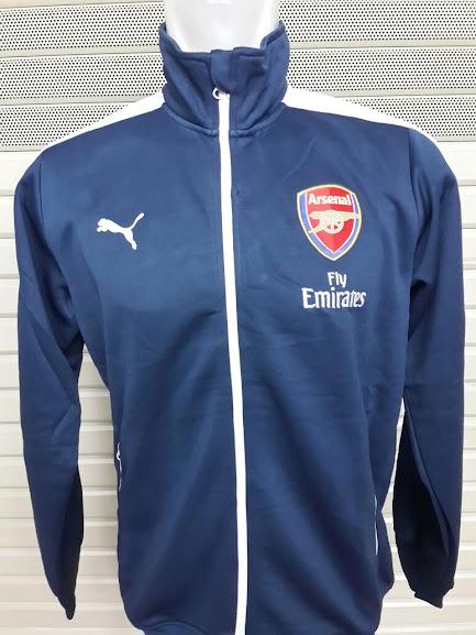 Jual Jaket Grade Ori Arsenal Biru Polos List Putih Terbaru 2014-2015