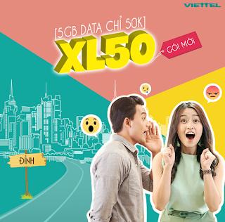 Cách nhận Miễn phí 5GB Gói XL50 Viettel
