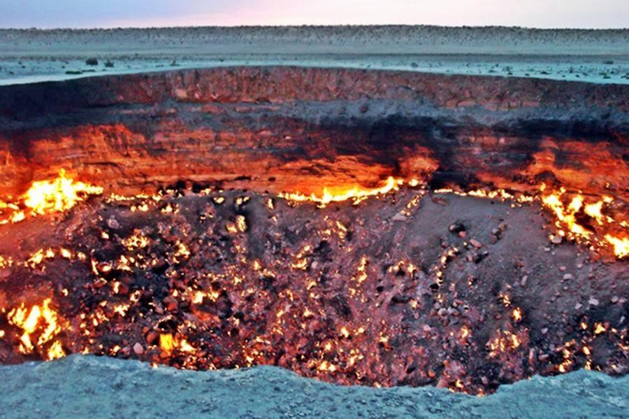 Pozo de Darvaza, Turkmenistán, otra de las maravillas naturales del mundo