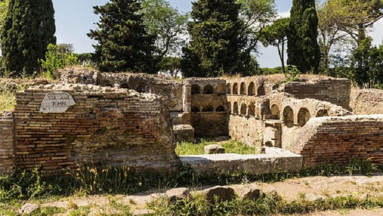 Italy: Satanic symbols carved into ruins at Ostia Antica