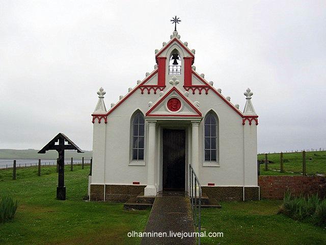 Эту католическую часовню в свободное от работы время построили в Шотландии итальянские военнопленные в 1943 году