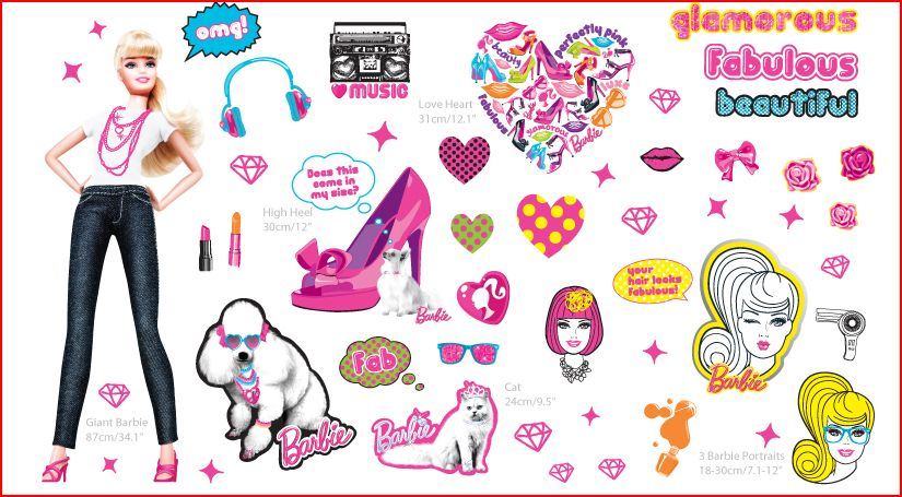 youngspaces barbie wall stickers now in store arizona state university wall decals wall decals the