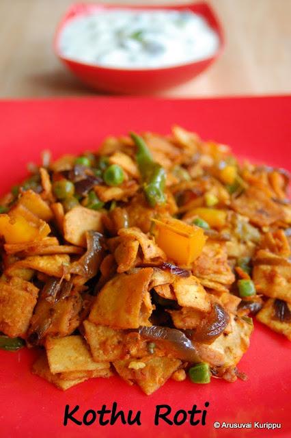 how to make kothu roti at home