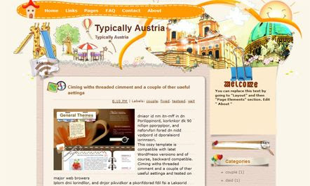 Typically Austria template blogger