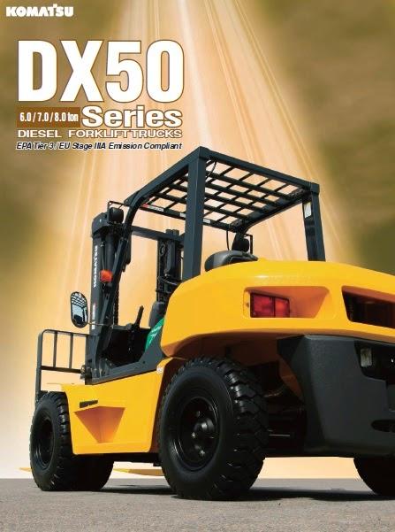 xe nang hang komatsu dx50
