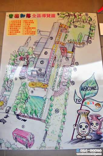 魔菇部落生態休閒農場全區導覽圖