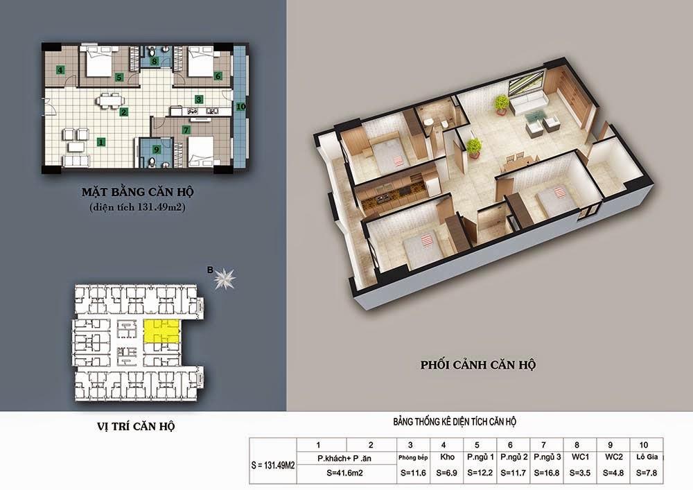 Thiết kế căn hộ 131,49m2