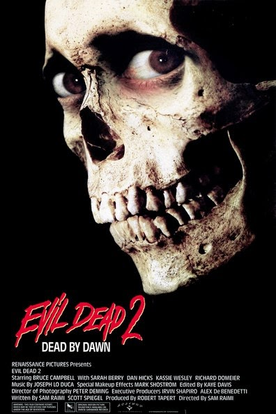 Poster Of Evil Dead II (1987) Full Movie Hindi Dubbed Free Download Watch Online At alldownloads4u.com