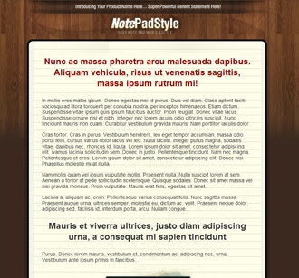 Sales Page | NotepadStyle