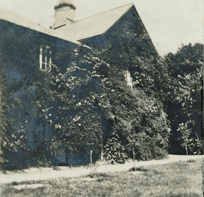 """The South East side of Kirby Lodge in 1874."" From A Record of Shelford Parva by Fanny Wale P24"