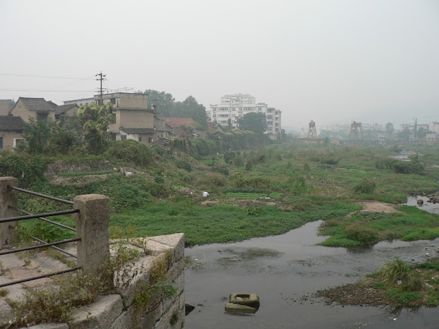 view from old bridge in Tongcheng, Anhui, China