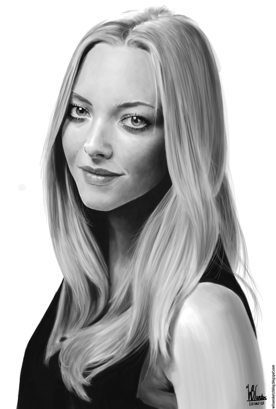 Digital painting of Amanda Seyfied, using Krita 2.7 Alpha.