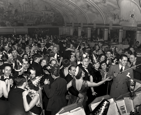 Cab Calloway Leads Orchestra at New Year's Ball