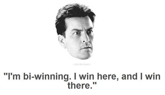 charlie sheen winning Eat to Win