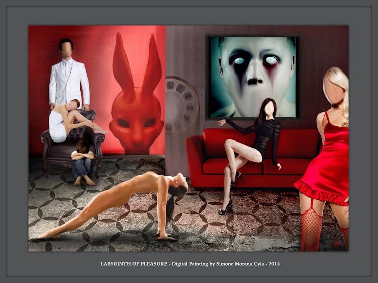 LABYRINTH OF PLEASURE - Digital Painting by Simone Morana Cyla © 2014