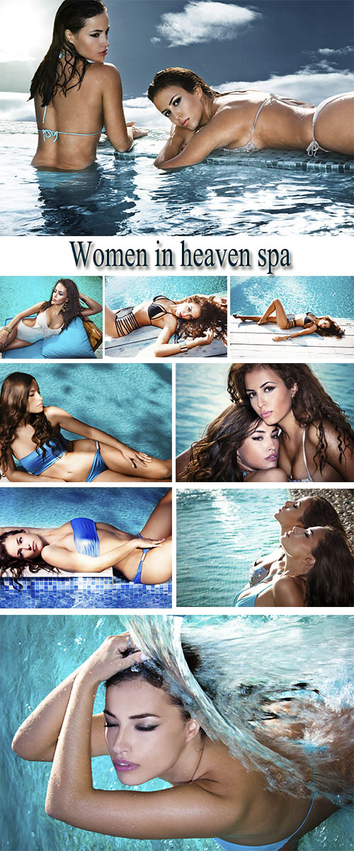 Stock Photo: Women in heaven spa