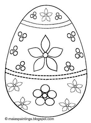 Easter egg-coloring page-painting model