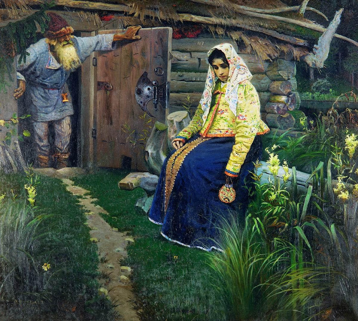 Mikhail Nesterov - Visiting A Sorcerer, Love Drink Is Needed