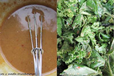 Masło orzechowe i sos sałatkowy