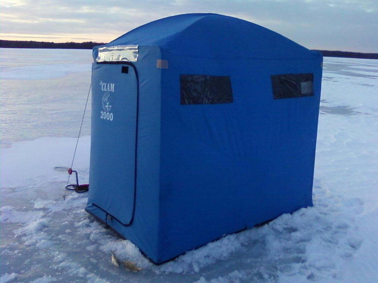 Clam 2000 2 man ice fishing shelter for Ice fishing tents
