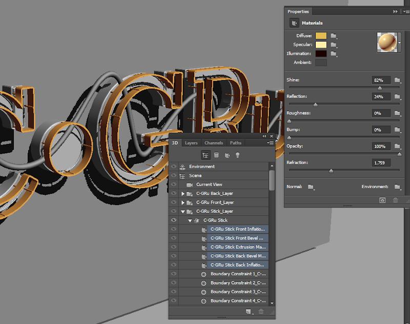 Photoshop - เทคนิคการสร้างตัวอักษร 3D Glowing แบบเนียนๆ ด้วย Photoshop 3dglow34