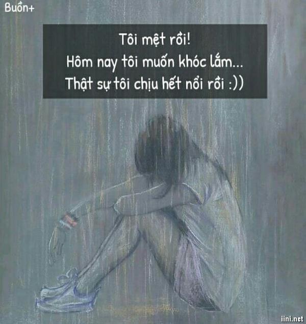 status tâm trạng buồn muốn khóc
