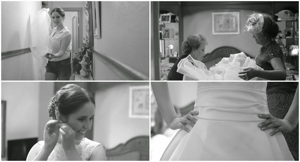 Fotografías de boda en casa de la novia ubicada en Toledo.