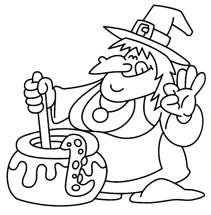 Free Printable Halloween Coloring Pages For Kids | 833x818