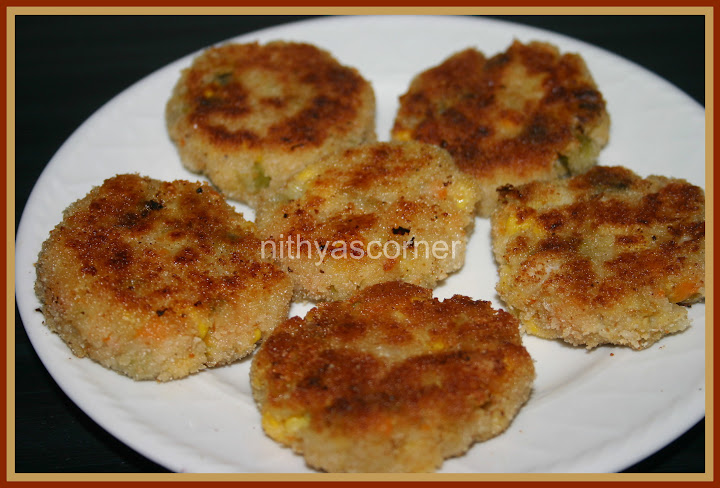 Vegetable And Paneer Cutlet