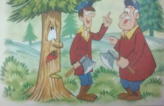 Los leñadores y el pino