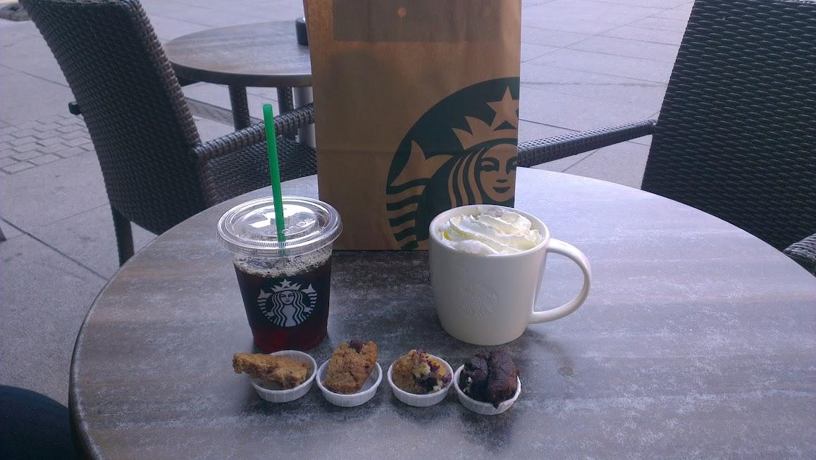 Iced Espresso und Chocolate Mocha bei Starbucks