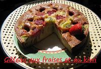 Gâteau fraises-kiwi - recette indexée dans les Desserts