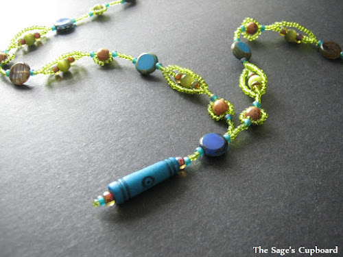 Blue Lime Y Necklace