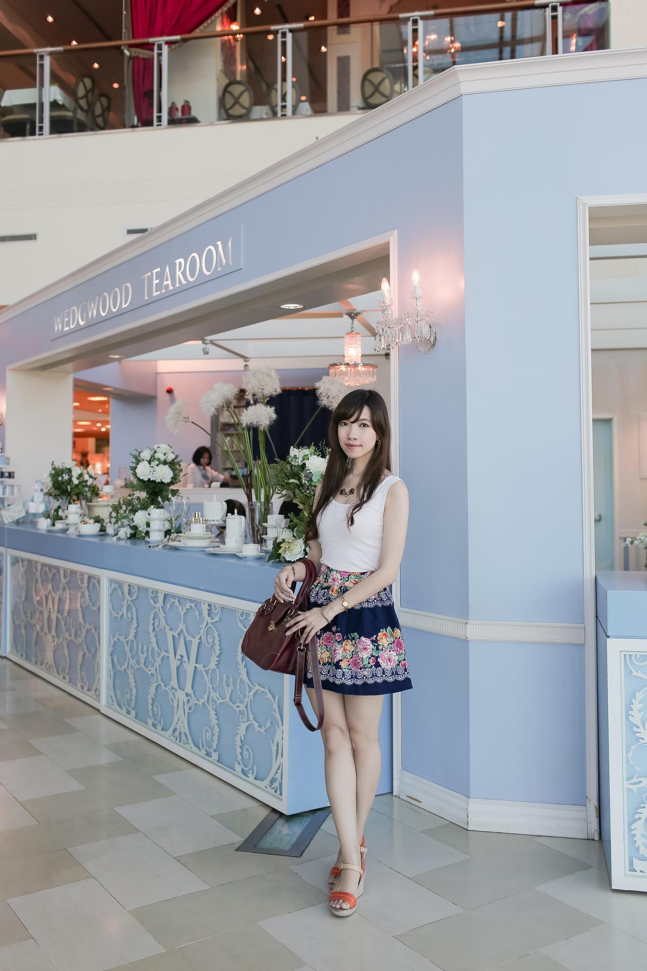 [Wedgwood Tearoom] 大吉嶺、野餐茶、楓糖鬆餅 and Picnicking Skirt again~XD