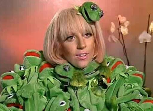 Lady Gaga también es fan de la rana Gustavo (Kermit)