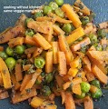 Gajar methi matar- carrots with fenugreek leaves and green peas