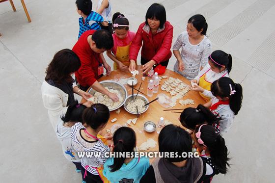 Chinese Kids and Dumplings Photo 3