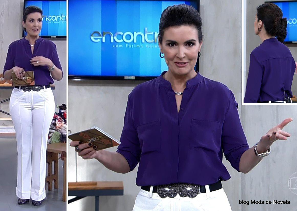 moda do programa Encontro - look da Fátima Bernardes dia 29 de julho