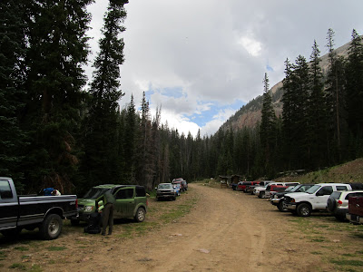 At the nearly-packed Grandview Trailhead on Friday afternoon
